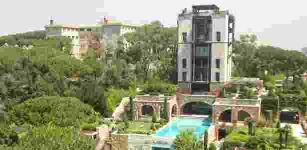 Vista externa do que é considerada pelo Guinness a maior suíte de hotel do mundo - Divulgação/Grand Hills Hotel & Spa - Divulgação/Grand Hills Hotel & Spa