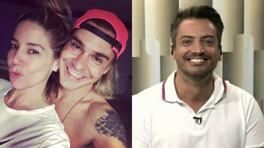 Danielle Winits e André Gonçalves discutiram com o jornalista Leo Dias nas redes sociais em janeiro e o episódio virou uma grande confusão - Reprodução/Instagram e montagem/UOL