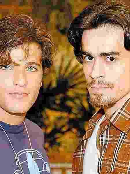 """Em """"América"""", Gloria Perez escreveu sete versões de um beijo gay para os personagens Junior (Bruno Gagliasso) e Zeca (Eron Cordeiro) - TV Globo - TV Globo"""