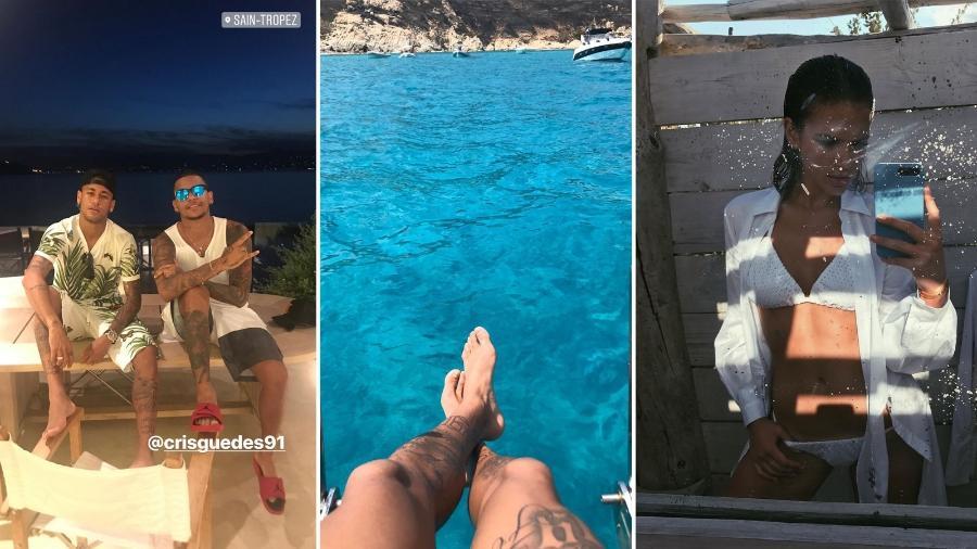 St Tropez, Ibiza: Neymar tem imitado os destinos de viagens da ex, Bruna Marquezine - Reprodução/Instagram