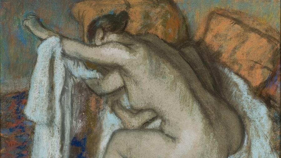 """""""Mulher enxugando o braço esquerdo"""", do pintor e escultor francês Edgar Degas, é uma das obras que estará na mostra coletiva História da sexualidade, no Masp - João Musa/Acervo Masp"""