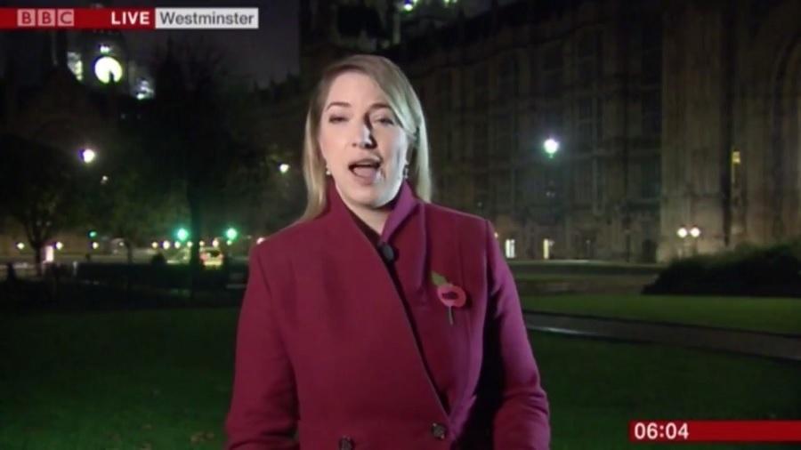 """""""Gemidão"""" invade transmissão da BBC com a repórter Emma Wardy - Reprodução/BBC"""