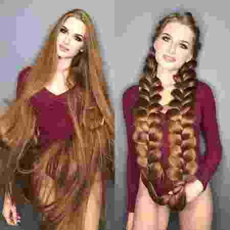 "Anastasiya Sidorova, a ""Rapunzel"" do Instagram - Reprodução/Instagram"