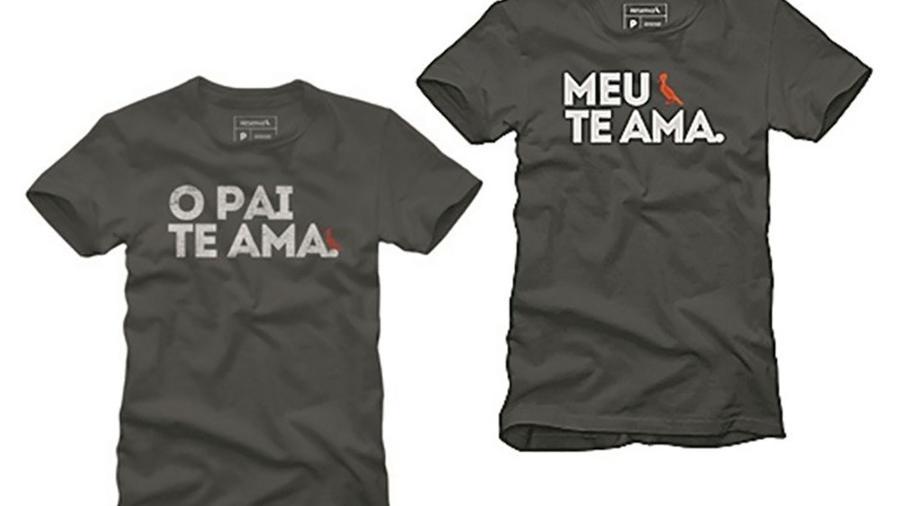 c84a871d5 Camisetas da marca Reserva com a letra da música