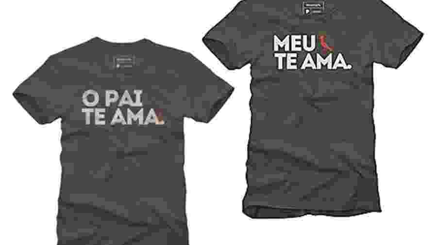 Camisetas da marca Reserva com a letra da música