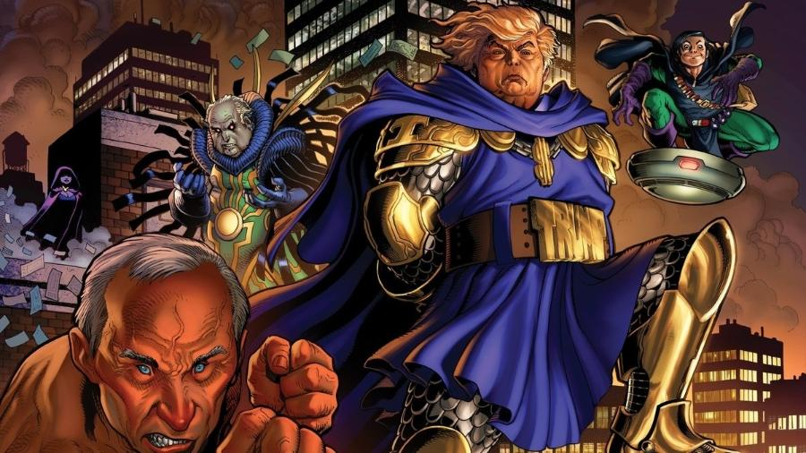 Trump como supervilão na ilustração do quadrinista Arthur Adams - Arthur Adams/GQ/Reprodução