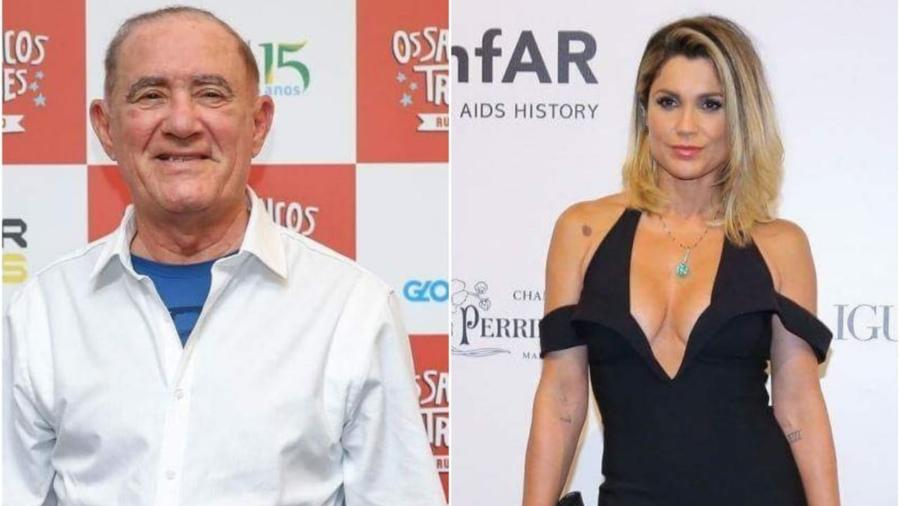 Renato Aragão e Flávia Alessandra estão entre os famosos que trocaram os tribunais pela TV - Manuela Scarpa/Brazil News Montagem/UOL