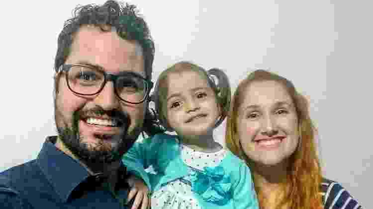 Daniel, Nina e atual namorada dele, Emely - Arquivo pessoal - Arquivo pessoal