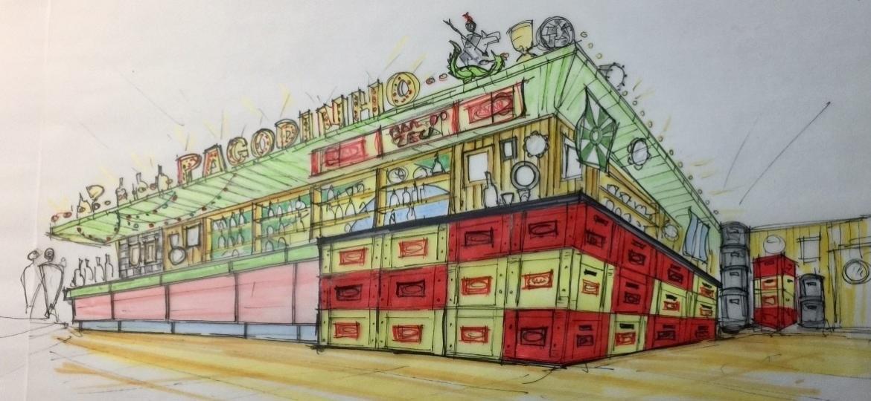 Ilustração da parte interna do Bar do Zeca Pagodinho - Divulgação