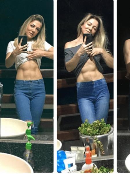 Karina Lucco mostra sua barriga tanquinho - Reprodução/Instagram