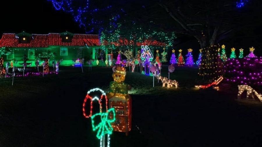 Michelle Sowell gasta cerca de R$ 173 mil por ano em sua decoração de Natal - Reprodução/Facebook