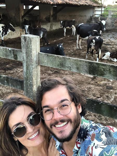 Fátima Bernardes e Túlio Gadelha em sítio - Reprodução/Instagram