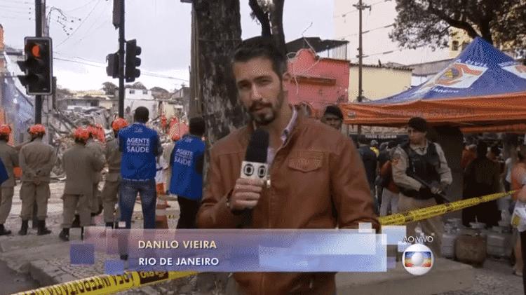 Danilo Vieira, repórter da Globo, no Rio de Janeiro - Reprodução/Globo - Reprodução/Globo