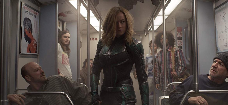 """Brie Larson como Carol Danvers em cena de """"Capitã Marvel"""" - Reprodução/IMDb"""