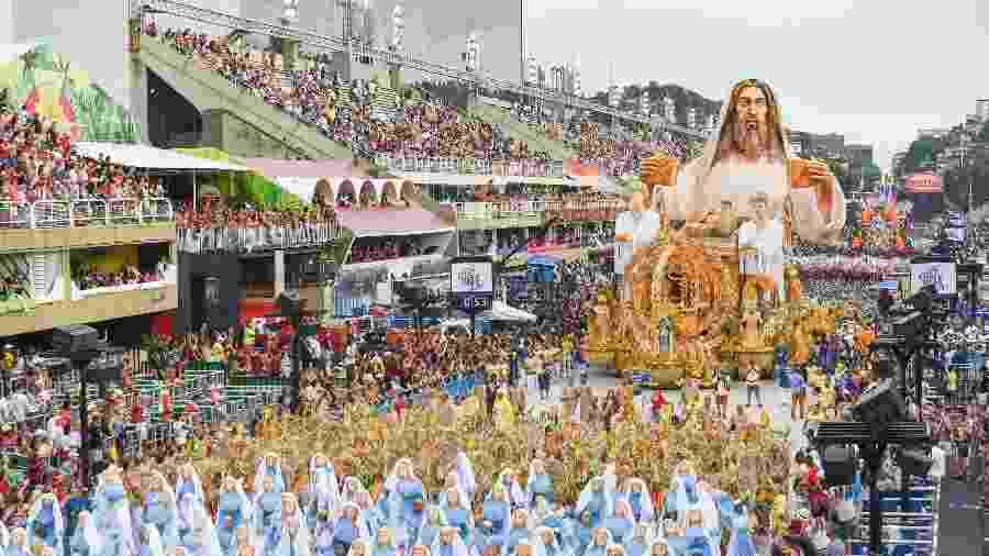 Desfile da Escola de Samba Unidos da Tijuca, sétima a entrar na avenida pelo Grupo Especial do Carnaval do Rio 2019 - Marcel Fonseca/Estadão Conteúdo