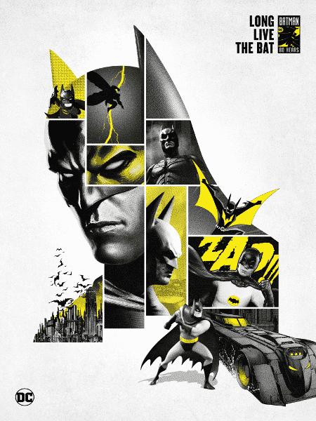 Arte para o aniversário de 80 anos do Batman - Divulgação/DC