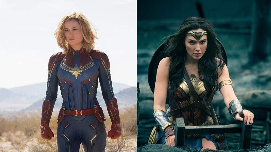 Capitã Marvel x Mulher Maravilha - Divulgação
