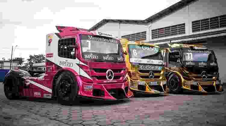 Caminhões da equipe AM Motorsport - Divulgação