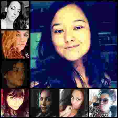 Kattia Oliveira e suas sete irmãs; no alto à esquerda: Irene, Ester, Miriam e Natália; abaixo, Cyntia, Carolina e Carlota - Arquivo Pessoal