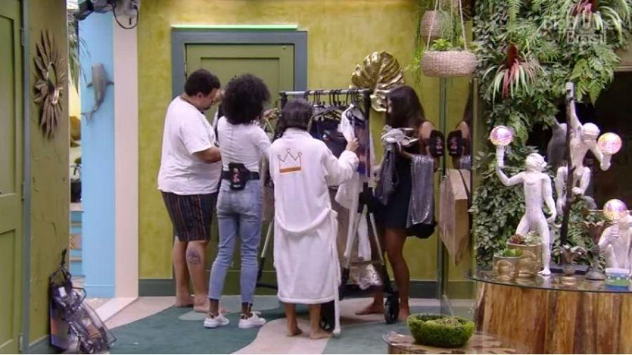 BBB 20: Sisters recebem figurino de festa - Reprodução/Globoplay