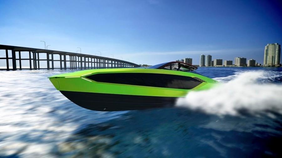 Iate da Tecnomar inspirado no Lamborghini Sián FKP 37 - Divulgação