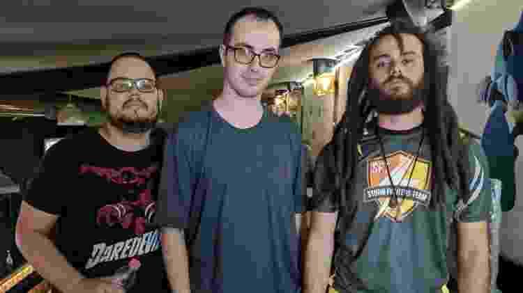 Silvério, Keoma e Lexe na Tiger Upper Quarta #54, em outubro de 2019 - Reprodução/Facebook/FGCSãoPaulo - Reprodução/Facebook/FGCSãoPaulo