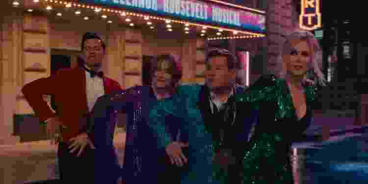 Andrew Rannells, Meryl Streep, James Corden e Nicole Kidman dançam em cena musical de 'A Festa de Formatura' - Reprodução/YouTube - Reprodução/YouTube