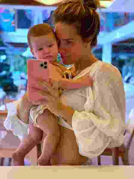 Giovanna Ewbank mostrou que o filho já tem talento com as câmeras - Reprodução