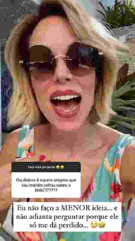 Ana Furtado diz não saber quem irá para o BBB 21 - Reprodução/Instagram - Reprodução/Instagram