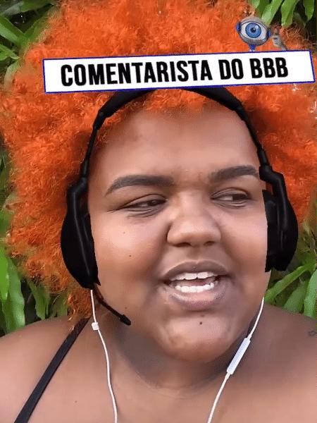 "Thamirys Borsan: ela criou o filtro ""Comentarista do BBB"" - Reprodução/Instagram"