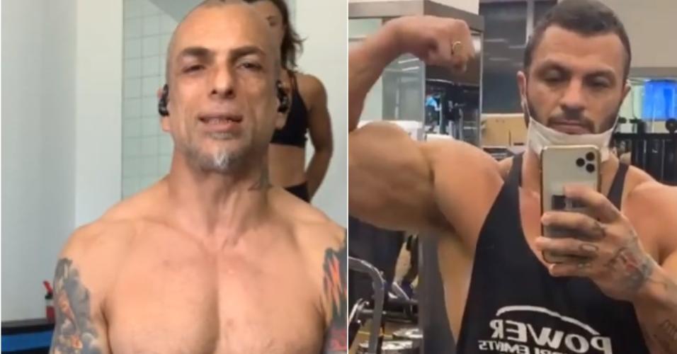 Marcelo Dourado e Kleber Bambam, vencedores do Big Brother Brasil