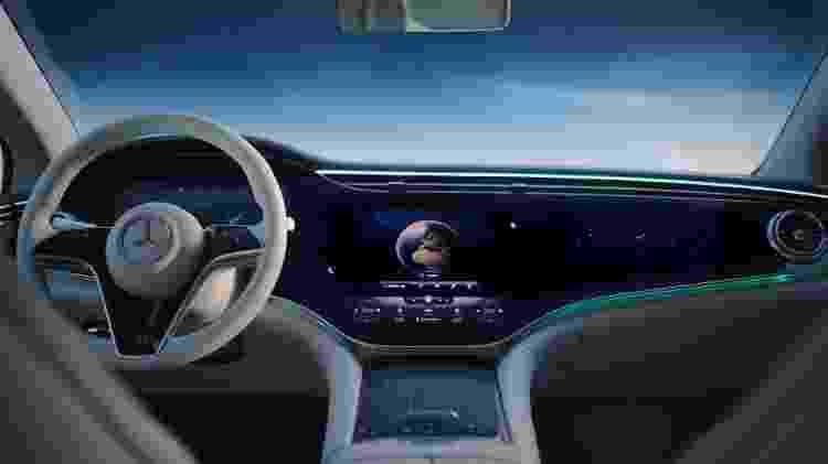 Mercedes-Benz EQS painel - Divulgação - Divulgação