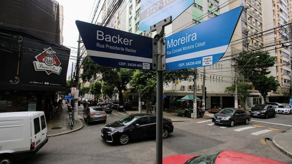 A rua Coronel Moreira César, hoje Rua Ator Paulo Gustavo, fica em Icaraí, Niterói