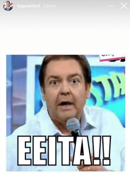Tiago Leifert posta meme após ser anunciado como substituto de Faustão - Reprodução/Instagram - Reprodução/Instagram