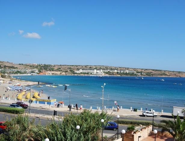 Praia de Mellieha, em Malta