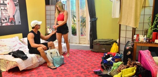 "O casal Cristiane e Tulio Maravilha, do ""Power Couple"" - Antonio Chahestian e Edu Moraes/TV Record"