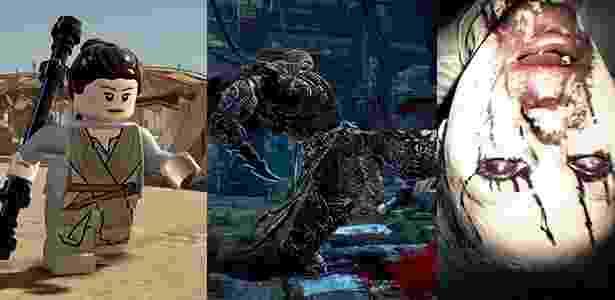 """De """"Lego Star Wars"""" até """"Resident Evil 7"""", não faltam novidades para os jogadores - Montagem/UOL"""