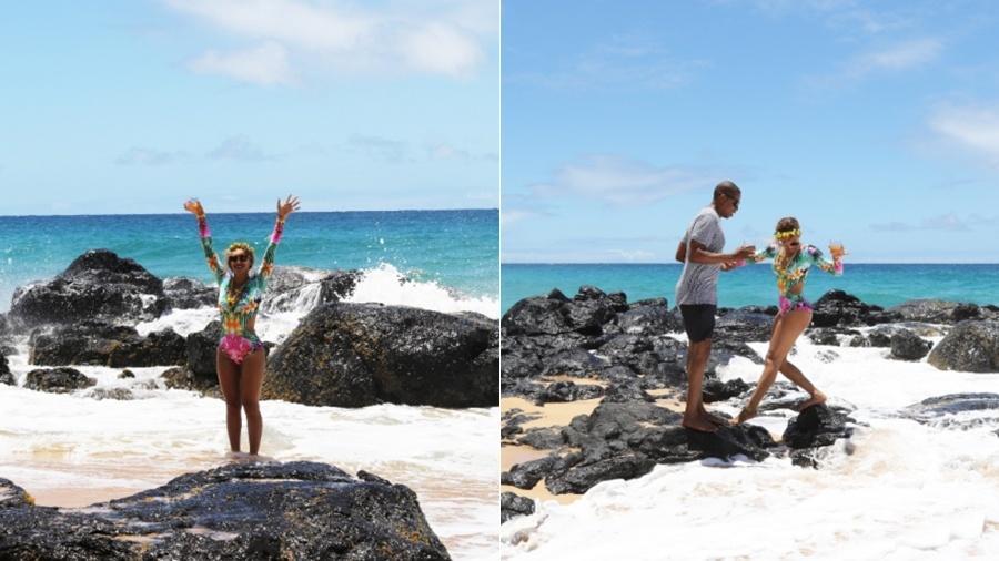 Beyoncé usou body da Cia. Maritima em viagem para o Havaí - Reprodução/Divulgação