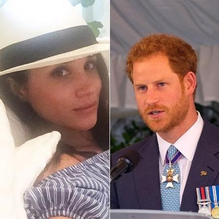A atriz Meghan Markle e o príncipe Harry - Reprodução/Instagram @meghanmarkle e @kensingtonroyal