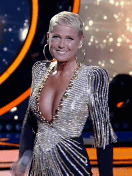 """Xuxa no """"Dancing Brasil"""" - Reprodução/TV Record - Reprodução/TV Record"""