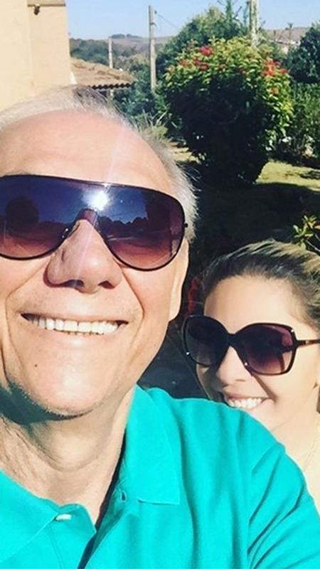 Marcelo Rezende ao lado da namorada Luciana Lacerda - Reprodução/Instagram