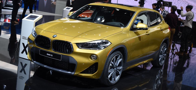 BMW X2 foi um dos grandes lançamentos do Salão de Detroit 2018 e atraiu muitos interessados - Murilo Góes/UOL