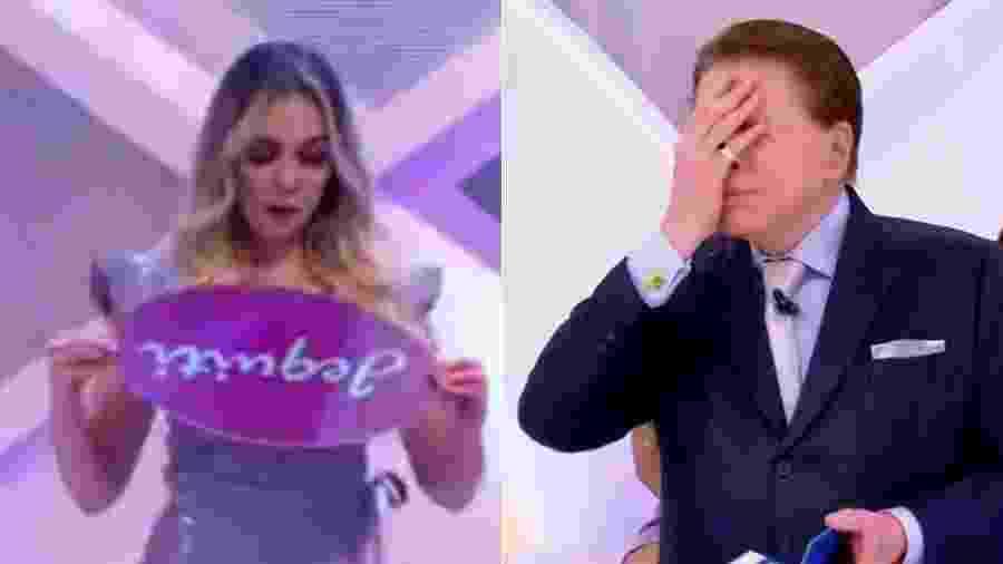 Silvio Santos manda embora bailarina que errou anúncio de marca de cosméticos - Montagem/UOL/Reprodução/SBT