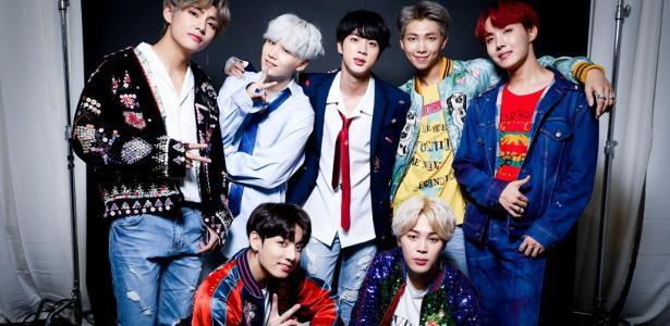 O grupo sul-coreano BTS, fenômeno do K-pop