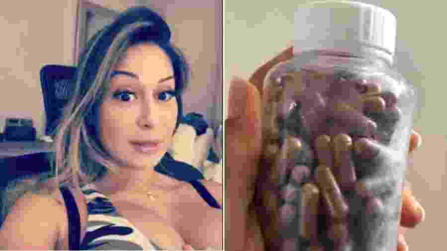 Mayra Cardi mostra as cápsulas feitas com a sua placenta - Reprodução/Instagram
