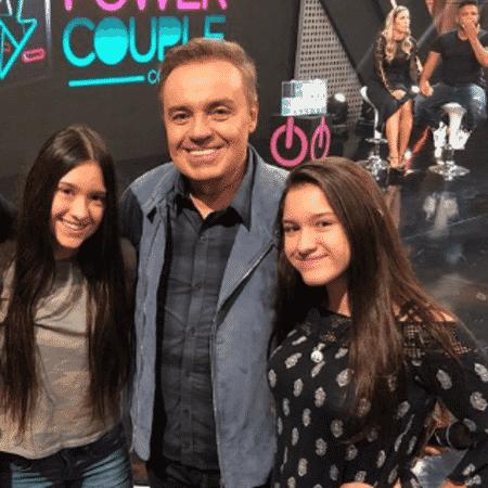 Gugu Liberato com as filhas, Sofia e Marina - Reprodução/Instagram