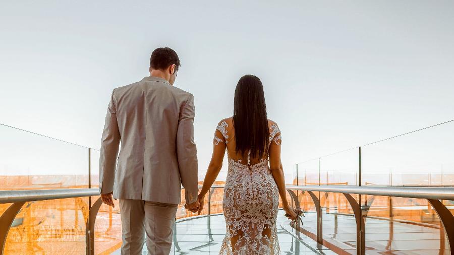 Simaria e o marido renovam os fotos na região do Grand Canyon, nos Estados Unidos - Divulgação