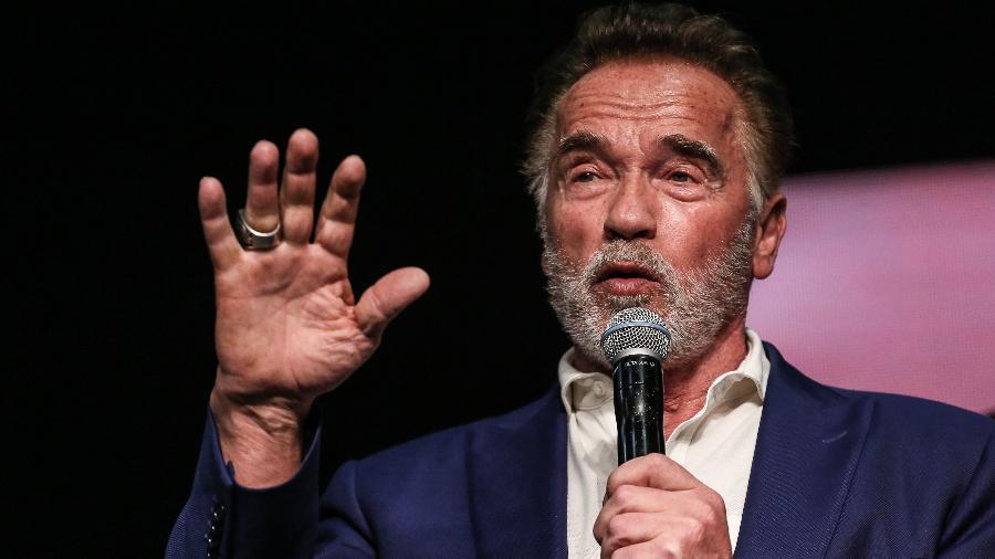 Arnold Schwarzenegger em evento em São Paulo, Brasil - Xinhua/Rahel Patrasso