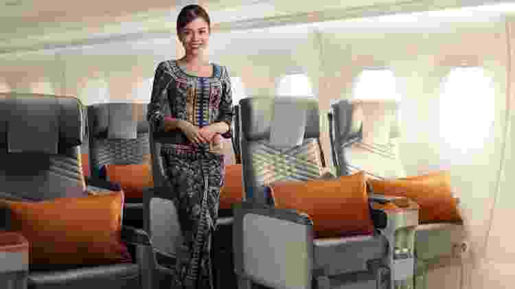 Comissária de bordo de voos da Singapore Airlines entre Cingapura e os Estados Unidos - Divulgação/Singapore Airlines