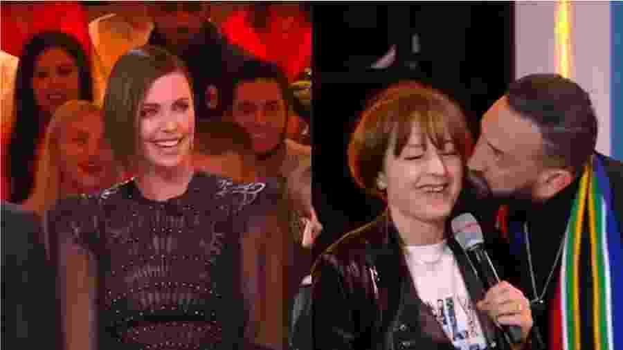 """Charlize Theron durante o programa """"Touche pas à mon poste!"""", apresentado por Cyril Hanouna - Reprodução/Youtube"""